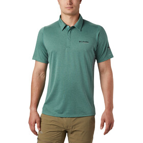 Columbia Irico Polo de Punto Hombre, thyme green/city grey